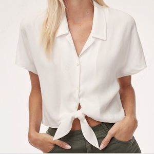 Wilfred Free Tie Front Blouse